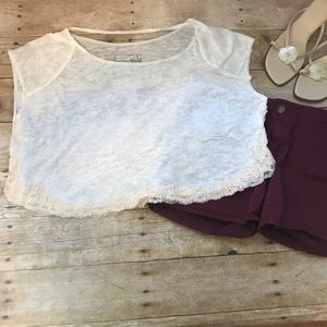 We The Free Women's White crop top. Size small